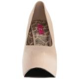 Creme Similicuir 14,5 cm Burlesque TEEZE-06W pieds larges escarpins pour homme