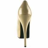 Creme Verni 14,5 cm Burlesque BORDELLO TEEZE-06 Escarpins Haut Talon