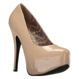 Creme Verni 14,5 cm Burlesque TEEZE-06W pieds larges escarpins pour homme