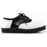 Cuir 2,5 cm CREEPER-606 Chaussures Creepers Hommes Plateforme
