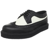 Cuir 2,5 cm CREEPER-608 Chaussures Creepers Hommes Plateforme