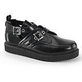 Cuir 2,5 cm CREEPER-615 Chaussures Creepers Hommes Plateforme