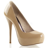 Cuir Beige Brillant 13,5 cm GORGEOUS-20 Escarpins Talon Haut Stiletto