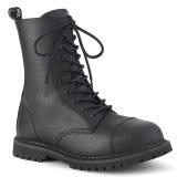 Cuir Vegan RIOT-10 bottes à cap d acier demonia - bottes de combat unisex