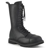 Cuir Vegan RIOT-14 bottes à cap d acier - bottes de combat demonia