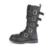 Cuir Vegan RIOT-18BK bottes à cap d acier - bottes de combat demonia