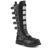 Cuir Vegan RIOT-21MP bottes à cap d acier - bottes de combat demonia