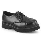 Cuir véritable RIOT-03 chaussures demonia - chaussures à cap d acier punk