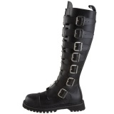 Cuir véritable RIOT-21MP bottes à cap d acier - bottes de combat demonia