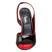 Cuir verni slingback 13 cm SEDUCE-117 chaussures slingback talon haut