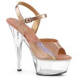 Cuivre 15 cm KISS-209BHG Plateforme Chaussures Talon Haut