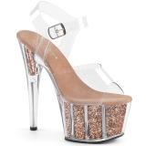 Cuivre paillettes 18 cm Pleaser ADORE-708G chaussure à talons de pole dance