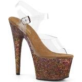 Cuivre paillettes 18 cm Pleaser ADORE-708LG chaussure à talons de pole dance