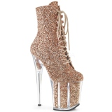 Cuivre paillettes 20 cm FLAMINGO-1020G bottines de pole dance