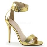 Dorée 13 cm Pleaser AMUSE-10 sandales à talons aiguilles