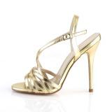 Dorée 13 cm Pleaser AMUSE-13 sandales à talons aiguilles