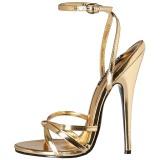Dorée 15 cm Devious DOMINA-108 sandales à talons aiguilles