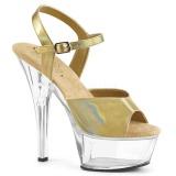 Dorée 15 cm KISS-209BHG Plateforme Chaussures Talon Haut