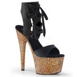 Dorée 18 cm ADORE-700-14LG chaussures plateforme et talons glitter
