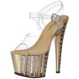 Dorée 18 cm ADORE-708VLRS chaussures à talons plateforme strass