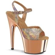 Dorée 18 cm ADORE-709HM chaussures plateforme et talons glitter