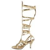 Doree 9 cm GODDESS-12 spartiates hautes genoux sandales gladiateur