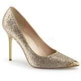 Dorée Etincelle 10 cm CLASSIQUE-20 grande taille chaussures stilettos
