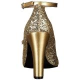 Dorée Etincelle 10 cm QUEEN-01 grande taille escarpins femmes