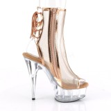 Dorée Filet 16 cm Pleaser DELIGHT-1018MSH Plateforme Bottines
