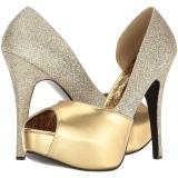 Dorée Glitter 14,5 cm Burlesque TEEZE-41W pieds larges escarpins pour homme