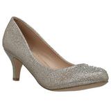 Dorée Pierre Cristal 6,5 cm DORIS-06 Chaussures Escarpins de Soirée