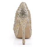 Dorée Pierres Scintillantes 13,5 cm FELICITY-20 Chaussures femmes a talon