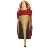 Dorée Pierres Scintillantes 14,5 cm TEEZE-27 Chaussures femmes a talon