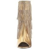 Dorée Similicuir 10 cm QUEEN-100 grande taille bottines femmes