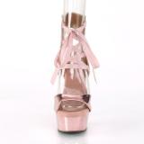 Dorée Similicuir 15 cm DELIGHT-600-14 sandales pleaser plateforme