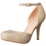 Dorée Strass 9 cm COVET-03 Chaussures Escarpins Classiques
