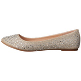 Dorée TREAT-06 pierre cristal chaussures ballerines femmes plates