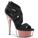 Dorée chrome plateforme 15 cm DELIGHT-669 chaussures pleaser à talon femme