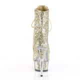 Dorée etincelle 15 cm DELIGHT-1020G bottines a plateforme femmes