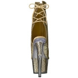 Dorée etincelle 18 cm ADORE-1018G bottines a plateforme femmes