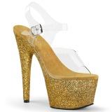 Dorée paillettes 18 cm Pleaser ADORE-708HMG chaussure à talons de pole dance
