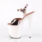 Dorée paillettes 20 cm Pleaser FLAMINGO-809LG chaussure à talons de pole dance