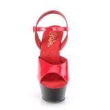 Double Couleur 15 cm KISS-209 Plateforme Chaussures Talon Haut