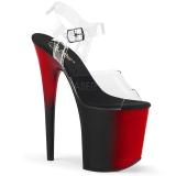 Double Couleur 20 cm FLAMINGO-808BR Plateforme Chaussures Talon Haut