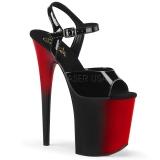 Double Couleur 20 cm FLAMINGO-809BR Plateforme Chaussures Talon Haut