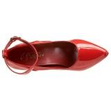Escarpins rouge verni 13 cm SEDUCE-431 escarpins à talons avec sangle de cheville