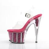 Fuchsia paillettes 18 cm Pleaser ADORE-708G chaussure à talons de pole dance