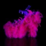 Fuchsia plumes de marabout 18 cm ADORE-708F chaussure de pole dance