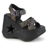 Glitter 13 cm Demonia DYNAMITE-02 sandales lolita talons compensées