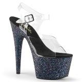 Glitter plateforme 18 cm ADORE-708LG sandales talons hauts de pole dance
